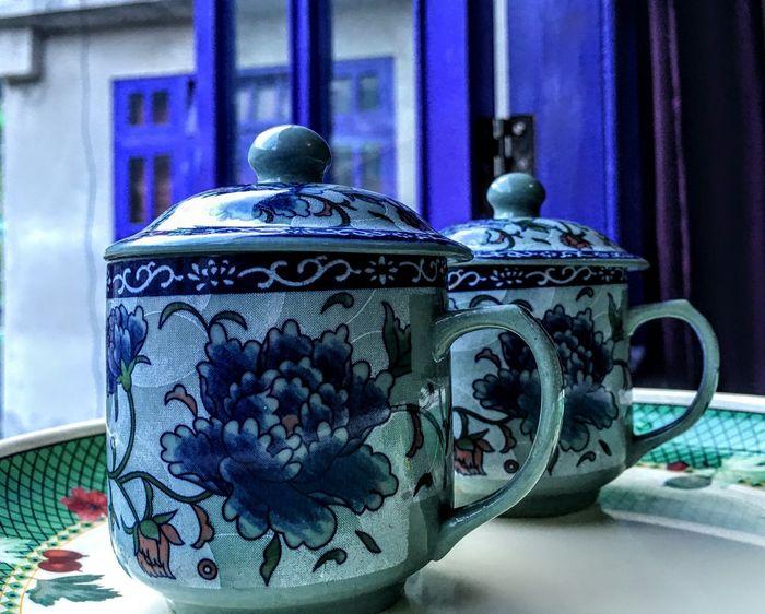 Indigo Blue Porcelain  Intricate Designs Caffeine Eyeem Market Fresh On Eyeem  TheWeekOnEyeEM Floral Pattern Cups And Mugs Cups With Charm Sikkim India Capture The Moment Feel The Journey EyeEm Gallery EyeEm Best Shots