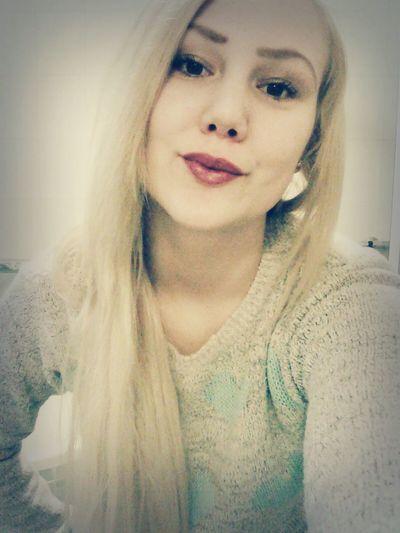 Kiss Kiss Blonde Girl Terezka Blonde Hair Eyes BIG Cute♡ Duck Natural Beauty Work :))