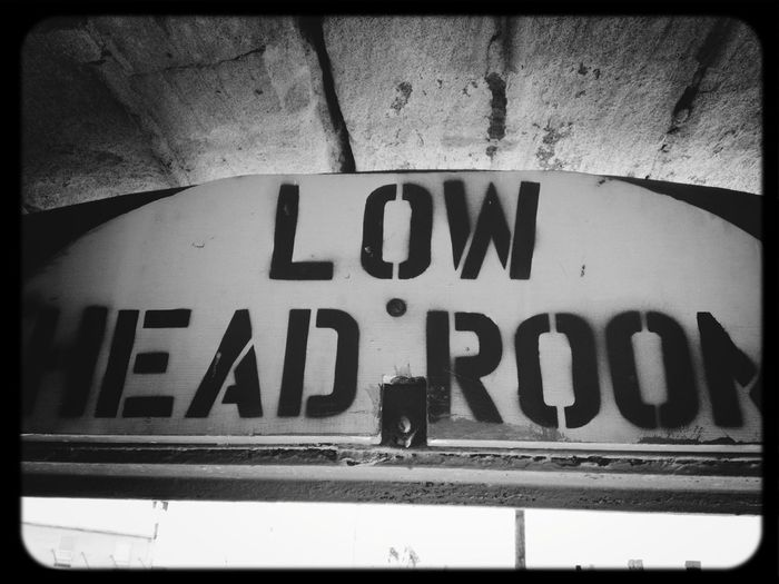 A sign commemorating the lesser known works of Max Headroom's clumsy but well meaning little b-b-b-brother. Blackandwhite Signs Vintage Signs