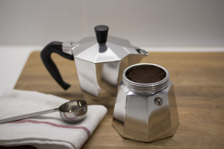 Close-up Coffee Day Espresso Focus On Foreground Maker Mokapot No People