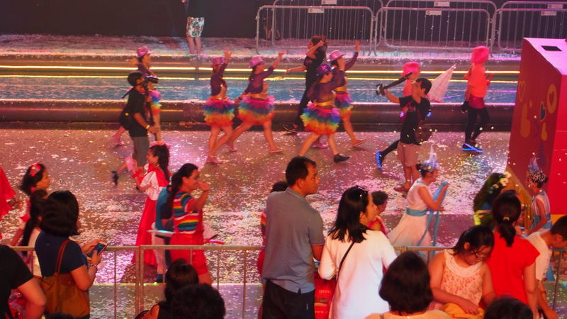 Adult Arts Culture And Entertainment Audience Carnival Carnival Crowds And Details Chingay Chingay2017 Crowd Crowded Enjoyment Excitement Fun Illuminated Large Group Of People Men Music Outdoors Parade People Performer  Real People Singapore Spectator Watching Women