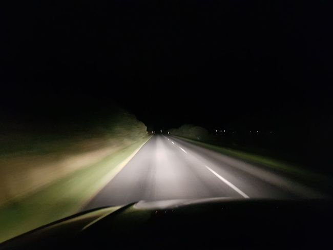 Fun driving in pitch darkness Airplane Road Journey Travel