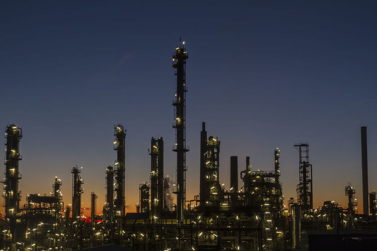 Refinery Heide Schleswig-Holstein Architecture Building Exterior Built Structure Complexity Distillation Factory Fuel And Power Generation Heide Illuminated Industry Night No People Oil Industry Oil Refinery Outdoors Petrochemical Plant Refinery Sky Smoke Stack Technology