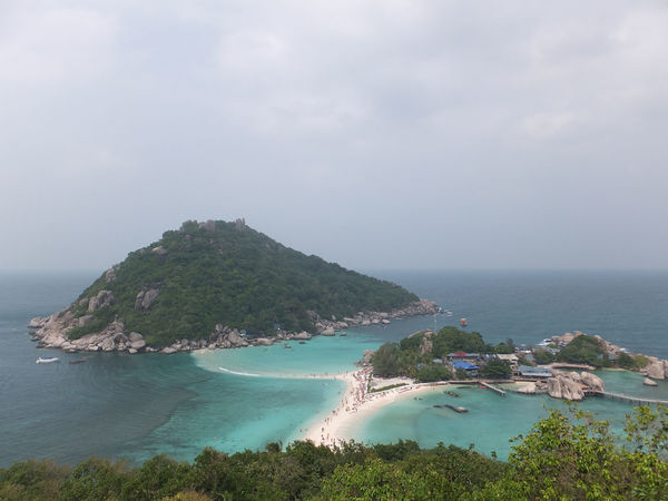 Beach Beauty In Nature Cliff Cloud - Sky Coastline Day High Angle View Horizon Over Water Idyllic Mountain Nature Scenics Sea Seascape Shore Sky Tranquil Scene Tranquility Tree Water Spotted In Thailand Kohnangyuan
