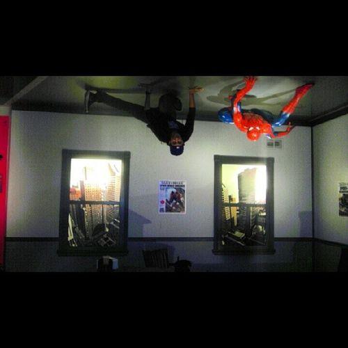 Yeah I forgot to tell you guys...I have spider powers dammit caught me off guard!! Haha MySpiderSenseAreTingling Spiderman MadameTussaudsHollywood WaxFigures