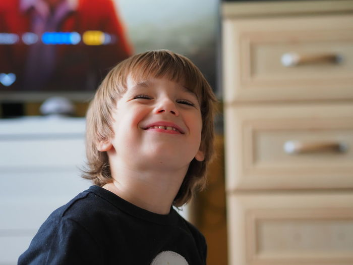 Portrait of smiling boy looking at camera
