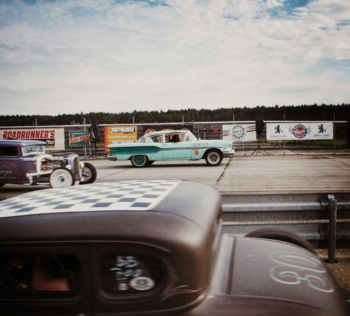 1/8 mile race... Race61 HotRod Classic Cars Vintage Cars Streetphotography The Street Photographer - 2015 EyeEm Awards The Moment - 2015 EyeEm Awards Learn & Shoot: Layering Rock'n'Roll Rockabilly