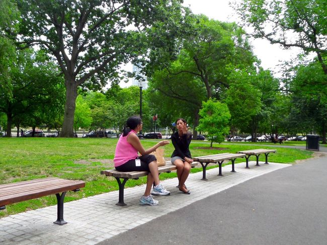 Boston Boston Public Garden  Streetphotography Two People Sitting Full Length Tree Adults Only Bench Young Adult Outdoors Only Women People Togetherness Adult City Young Women Day Well-dressed