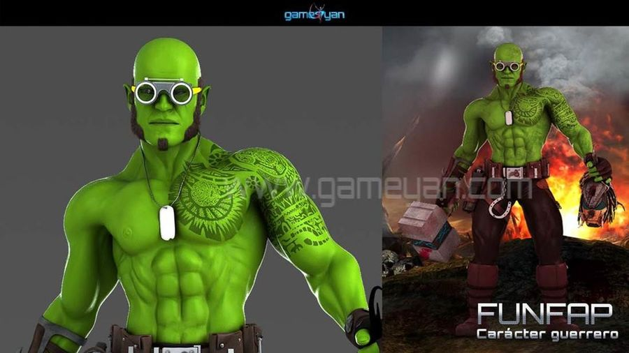 Showcase and discover Creative Work 3D Funifap Warrior 3d Modellers for Hire Character Companies Company Design Freelance Hire Modellers MOVIE Outsourcing Texturing Texturing