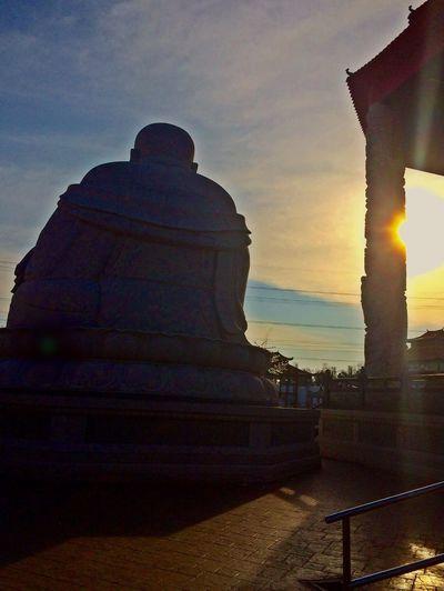 Skies At Dusk Big Buddha Taking Photos Photography