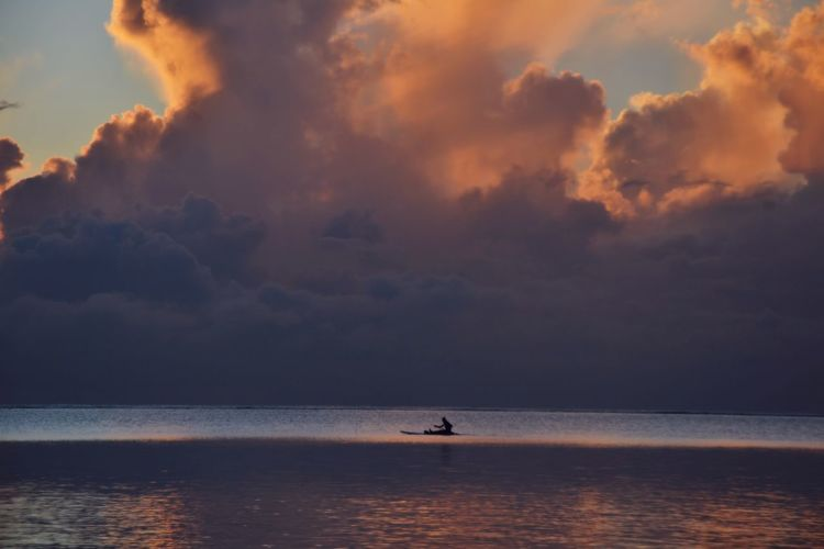 Mombasa Kenya Fishing Fishing Boat Horizon Over Water Mombasa One Person People Pink Clouds Reflection Sea Sky Sunrise Tranquility Water Been There. Small Man In A Big World Connected By Travel Lost In The Landscape EyeEmNewHere Second Acts Perspectives On Nature