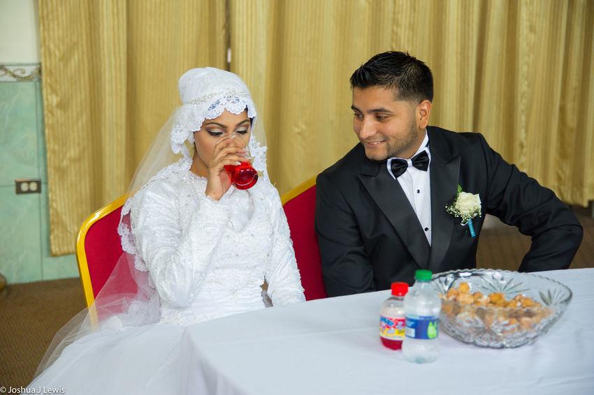 Couple - Relationship Wedding Husband Glass Religion Muslimwedding Caribbean Trinidad And Tobago Beautiful Place Of Worship Life Events Sitting Couple Happiness Bridegroom Event Wedding Ceremony Togetherness Stillife