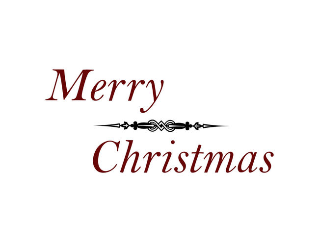 Christmas Holiday Vacations Good Wishes Illustration Isolated White Background Merry Christmas