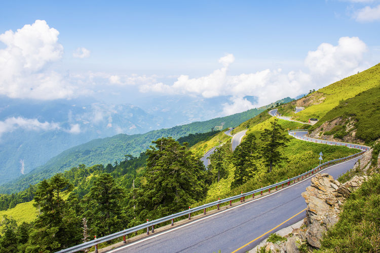 Beauty In Nature Cloud - Sky Day Landscape Mountain Mountain Range Mountain Road Nature No People Outdoors Road Scenics Sky The Way Forward Tranquil Scene Tranquility Transportation Tree Winding Road