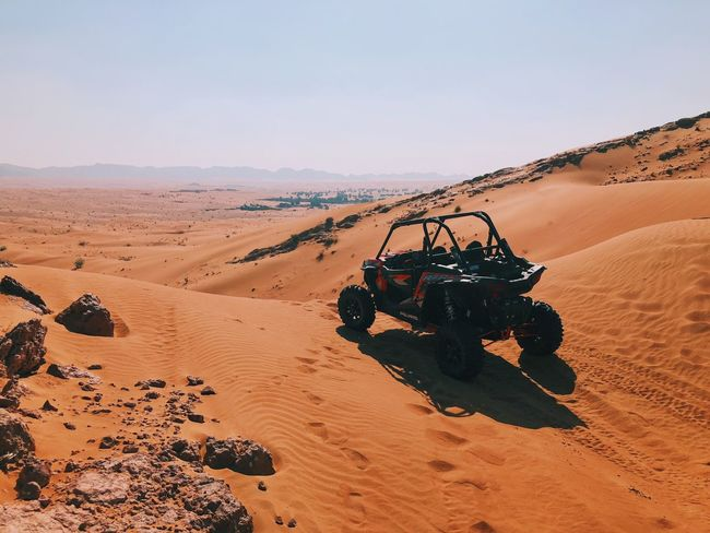 Breathing before diving in Desert Sand Dune Sand Arid Climate Landscape Off-road Vehicle Shades Of Winter Nature Adventure Extreme Terrain Outdoors Beauty In Nature Scenics No People Transportation Sky Day Mobility In Mega Cities