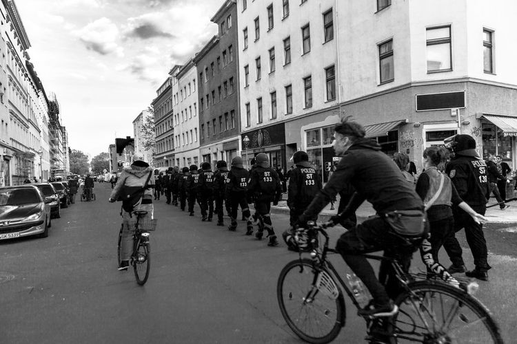 People on city street