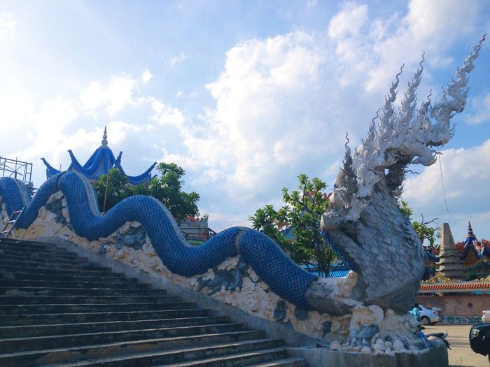 Last Sunday🙏 Naga Thai Temple Blue Sky