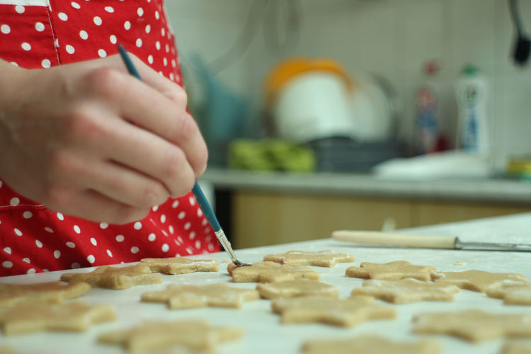 Cookie Food And Drink Homemade Human Hand Indoors  Kitchen Making One Person Preparing Food