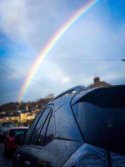 Rainbow Sky Car
