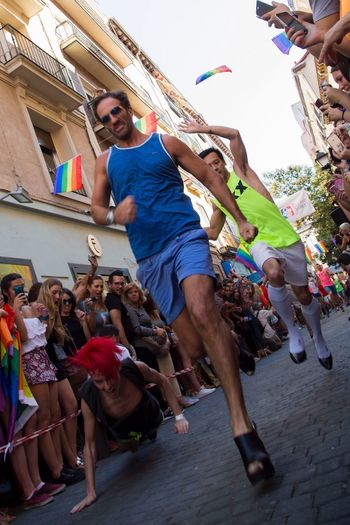 """Carrera de tacones Orgullo Madrid 2016"" ©rommanski Photopress Documentary Madrid Spain Press Photojournalism Rommanski"