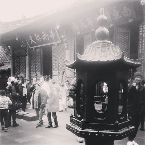 Chengdu China Culture Streetphoto_bw Chinese Temple