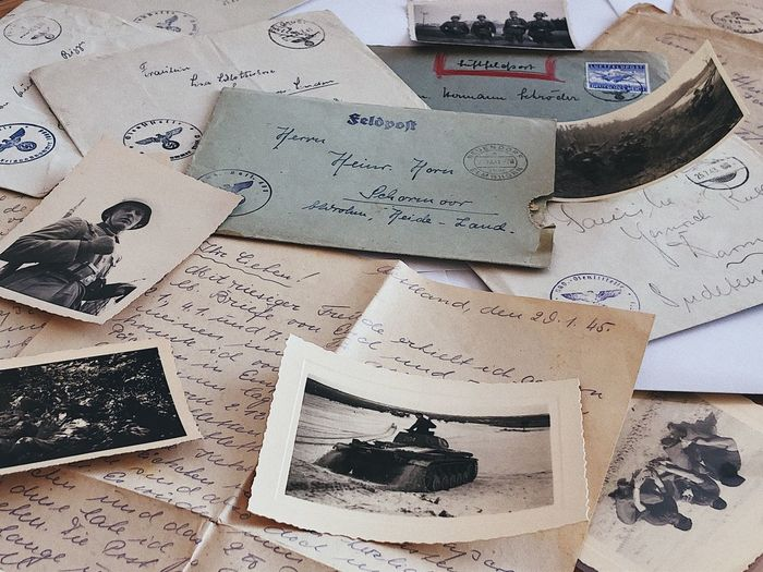 World War II Fieldpost correspondence... Soldier Handwriting  Letter Airmail Administration Writing Document Envelope History WWII Ww2 Military Tank Old Photos Mail Correspondence Feldpost War Text Communication Pattern Still Life Close-up Paper Western Script Creativity Full Frame Backgrounds Art And Craft Group Of Objects