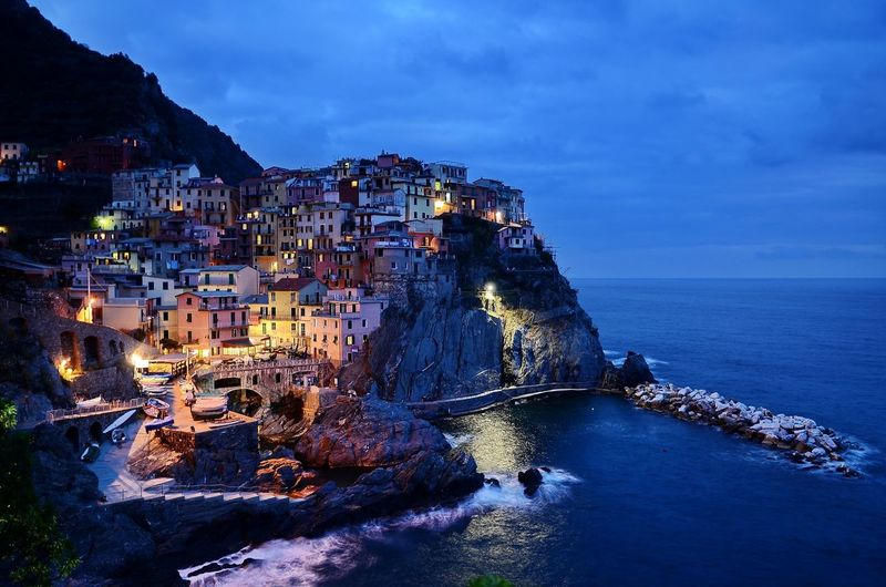 Illuminated Italian Seashore