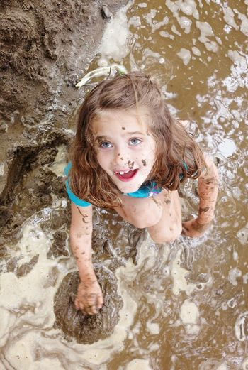 National Mud Day Mud Jump Children Only Child One Girl Only Childhood Girls High Angle View Summer Water Portrait Fun Smiling Wet Looking At Camera One Person Day Vacations Playing People Blond Hair Outdoors EyeEmNewHere The Week On EyeEm