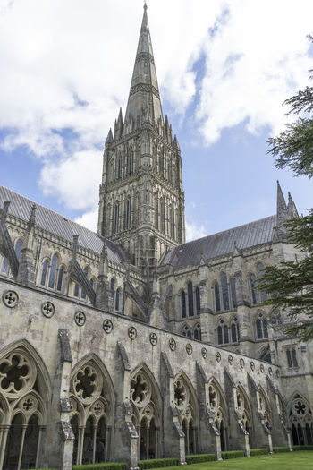 Salisbury Cathedral, UK Building Exterior Built Structure Architecture Building Place Of Worship Religion No People History Spire  Gothic Style The Past Salisbury Cathedral  Low Angle View