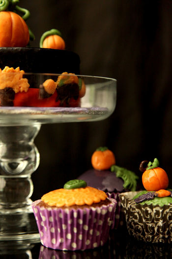 Close-Up Of Cup Cakes And Cake