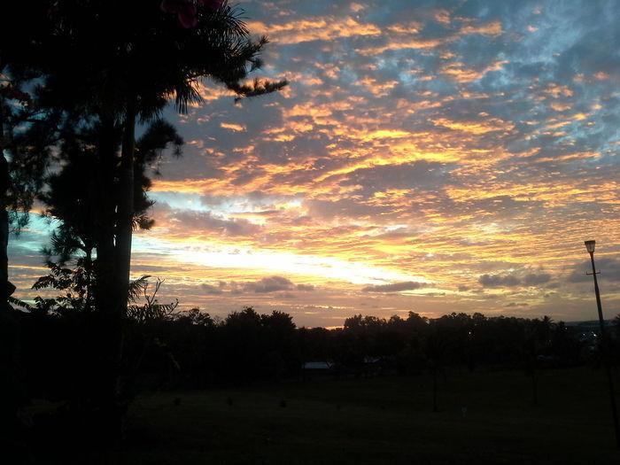 Sunset Clouds Sky Taking Photos