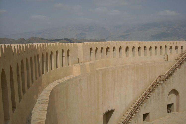 Fort Nizwa in Oman Fort Famous Place History International Landmark Majestic Outdoors Scenics Tourism Travel Destinations Vacations Holiday Vacation Sightseeing, No People Architecture Finding New Frontiers