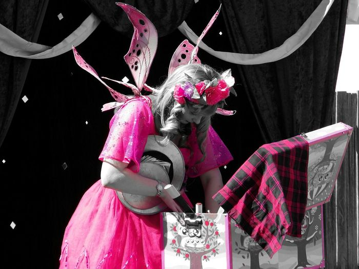 Fairy's are real 😁 Women Pink Color People Party - Social Event Adults Only Only Women Outdoors Circus Country Show Fairy Dressup Fairy Wings Kids Entertainment Imagination Photography Outdoor Photography Streetphotography Human Body Part Full Length Black And White With A Splash Of Colour From My Point Of View Eye4photography  Eyeem Photography Magic Moments T