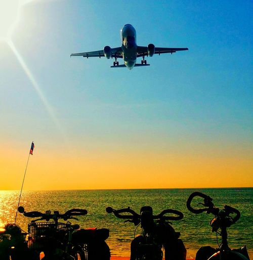 fly & park Vscobeach Vscocam Touringbicycle Beach Time Krabi Thailand Park&ride Flying Sky Airplane