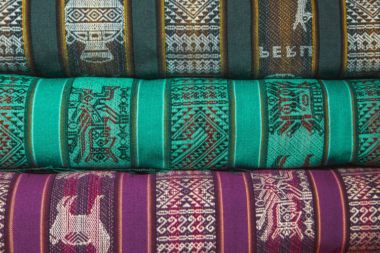 Traditional Peruvian fabric. It's so pretty! I still regret that I didn't bring any back home.. Andes Backpacking City Cityscape Exploring Inca Latin America Stack Art And Craft Backgrounds Close-up Colonial Day Discover  Floral Pattern Full Frame In A Row Multi Colored Pattern Side By Side South America Textile Travel Destinations Turquoise Colored Urban The Traveler - 2018 EyeEm Awards The Still Life Photographer - 2018 EyeEm Awards