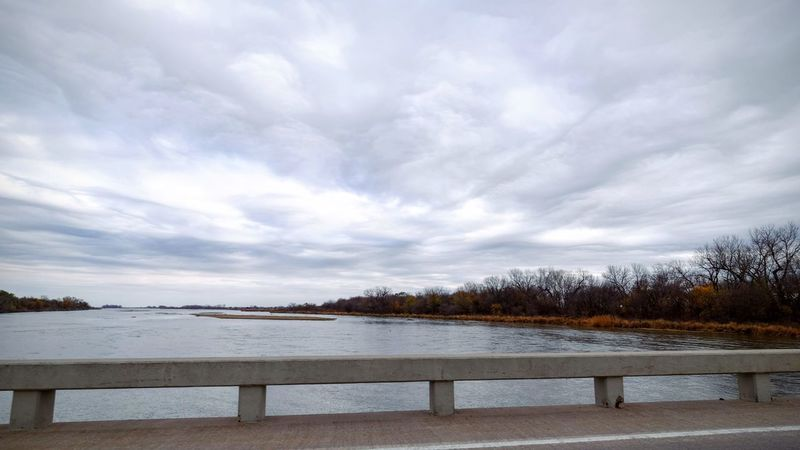 Photo essay - A day in the life. Platte River Grand Island, Nebraska November 6, 2016 A Day In The Life America Beauty In Nature Bridge View Camera Work Cloud - Sky Eye Em Nature Lover Eye For Photography Landscape MidWest Nature Nebraska No People On The Road Outdoors Photo Diary Photo Essay Platte River Road Trip Scenics Storytelling Travel Photography Visual Journal Water Wide Angle