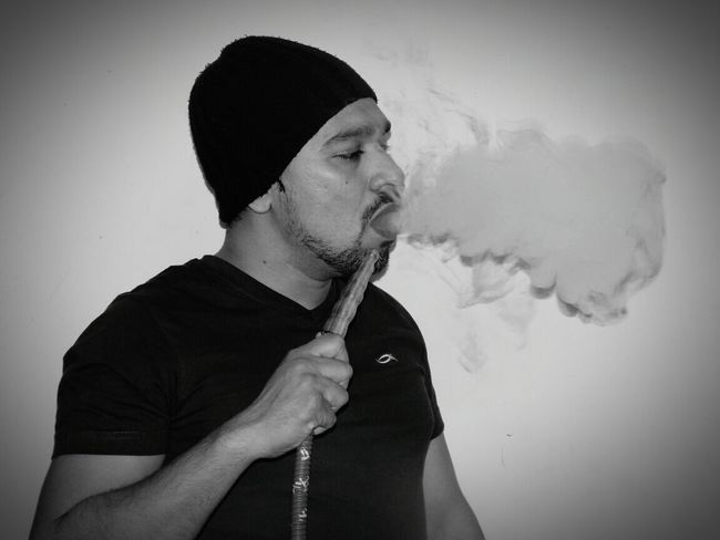 Hookah Sesh Hookah Time  Hookah Bar Hookah Only Men One Man Only One Young Man Only One Person Adults Only Young Adult Business Finance And Industry Adult Men People Smoke - Physical Structure