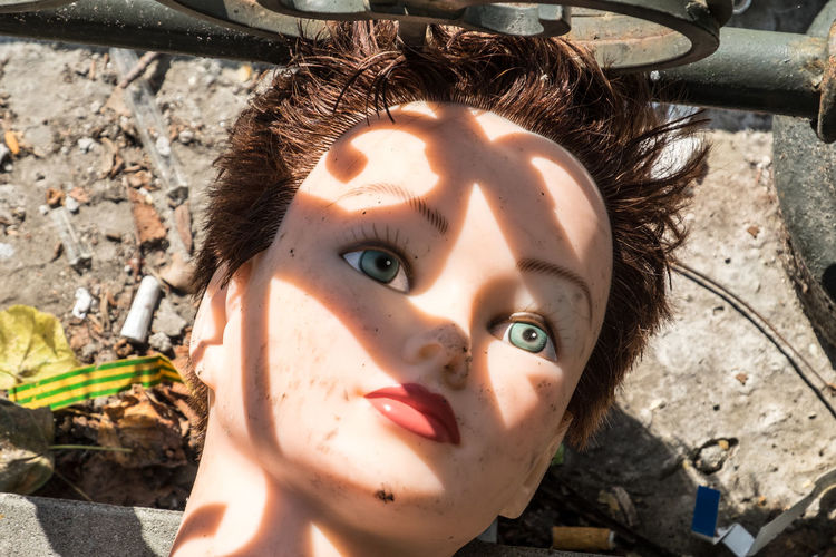 Close-up of male mannequin