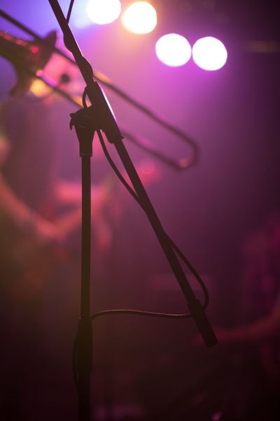 Concert Photography Concert Microphone Music Purple Illuminated Arts Culture And Entertainment Indoors  Close-up No People