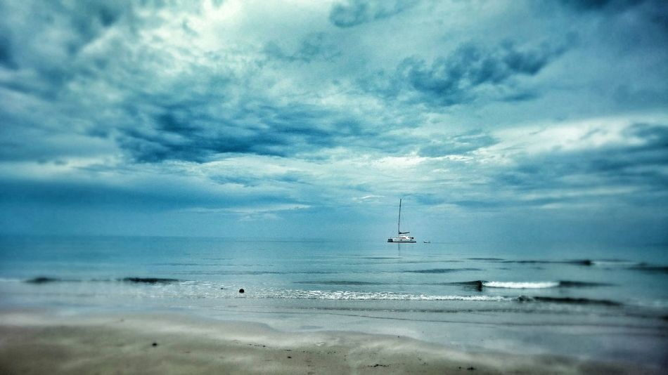 Thailand Koh Chang after thunderstorm После грозы на Ко Чанге. mobile shot Nature Cloud - Sky Sky Water Beauty In Nature Outdoors Sea Blue Thailand_allshots_nature Koh Chang Beach Tranquil Scene