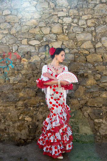 Andalucía Flamenco Spanish Woman Adult Adults Only Beautiful Woman Beauty Day Full Length Lifestyles Nature One Person One Woman Only One Young Woman Only Only Women Outdoors People Portrait Real People Red Standing Women Young Adult Young Women