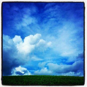 Weinberg Besigheim Sky Clouds blue white green