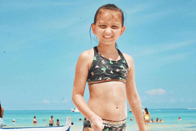 The Portraitist - 2019 EyeEm Awards Water Swimming Portrait Sea Smiling Beach Women Beautiful Woman Beauty Sand Bikini Top Beach Holiday Swimwear Bikini Bikini Bottom