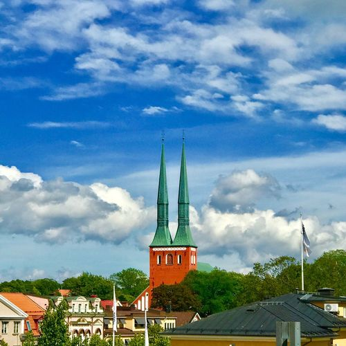 Domkyrkan Cathedral. Enjoying Life Hello World Today's Hot Look Relaxing Street Silent Architecture Checking In Växjö  Check This Out No People Nature City Geometry Taking Photos Skyporn Sun ☀ Mysity Day Street Photography Antique Eye4photography  Visual Statements Like4like OpenEdit