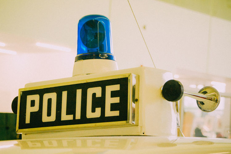 Glasgow  Guidance Mode Of Transport Police Siren Text Transport Transport Museum