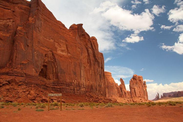 Beautiful monument valley Rock Formation Rock Sky Rock - Object Solid Physical Geography Geology Cloud - Sky Tranquil Scene Scenics - Nature Travel Travel Destinations Beauty In Nature Nature Tranquility Non-urban Scene Mountain Day Land No People Eroded Mountain Range Climate Arid Climate Formation