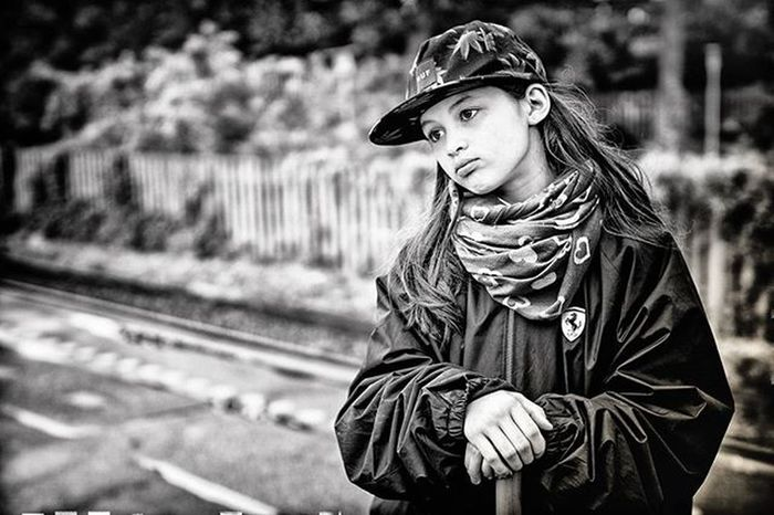 And back to portrait. Rainy Friday waiting for the train to arrive. Happy weekend folks! Bwphotography Bw Portrait Girl Kids Daughter Picoftheday Love Herlev Hlwasm Copenhagen Jlwu Friday