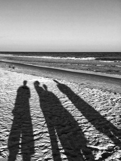 Beach shadows -