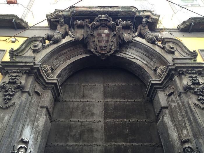 Palazzo Carafa Della Spina Old Door Travel Destinations History No People Architecture