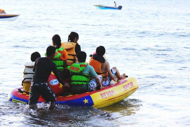 People enjoying in boat